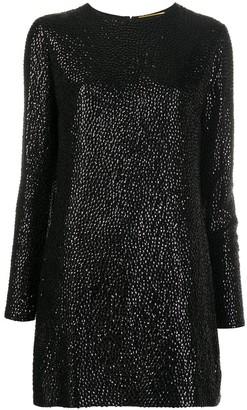 Saint Laurent Sequin-Embellished Short Dress