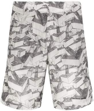 Off-White Off White arrow print swim shorts