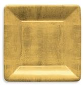 Caspari Gold Leaf Paper Salad/Dessert Plates, 8 Pack