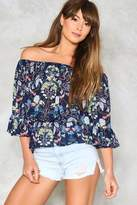 Nasty Gal nastygal Woodstock Off-the-Shoulder Top