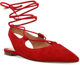 Franco Sarto Snap Lace-Up Ghillie Flats
