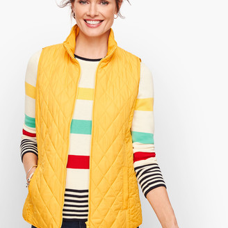 Talbots Diamond Quilted Vest - Solid