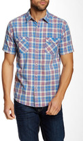 Quiksilver Plaid Short Sleeve Modern Fit Shirt