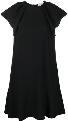 RED Valentino Frill Sleeve Mini Dress