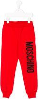 Moschino Kids - branded sweatpants - kids - Cotton/Spandex/Elastane - 4 yrs