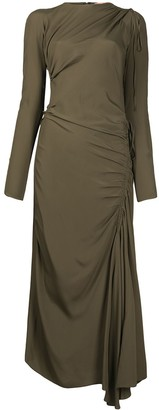 No.21 Drape-Detail Tie-Fastening Dress