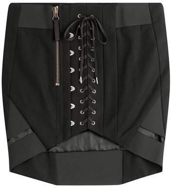 Anthony Vaccarello Cotton Corset Skirt