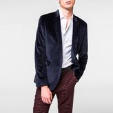 Paul Smith Men's Slim-Fit Navy Velvet Blazer