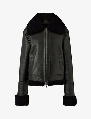 Joseph June leather and shearling jacket