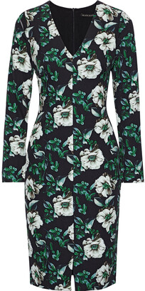 Black Halo Sambora Floral-print Cady Dress