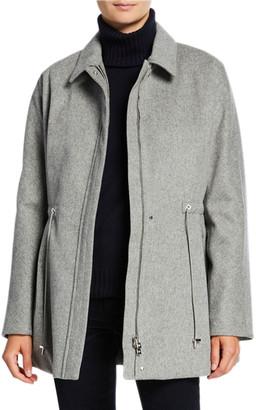 Loro Piana Cashmere Storm Cinched-Waist Jacket