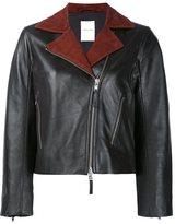 Wood Wood contrast lapels jacket