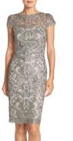 Tadashi Shoji Women's Illusion Yoke Lace Sheath Dress
