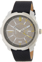 Diesel Men&s Machinus Leather Strap Watch