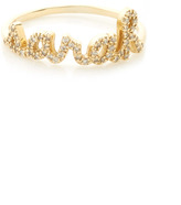 Sydney Evan Yellow Gold Five Letter Customizable Script Ring