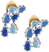 Larkspur & Hawk Caterina Double Cascade Earring - Blue