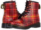 Dr. Martens Kid's Collection 1460 Tartan (Big Kid) (Red Multi) Kid's Shoes