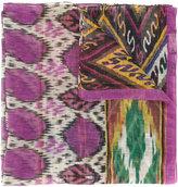 Etro ikat print scarf - women - Silk/Linen/Flax - One Size