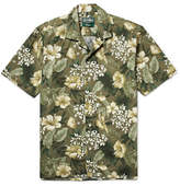 Gitman Brothers Camp-collar Floral-print Cotton Shirt - Green