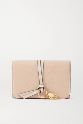 Chloé Alphabet Textured-leather Wallet - Blush
