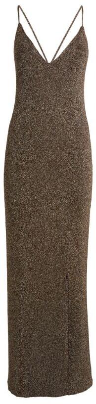 Ganni Glitter Knit Maxi Dress