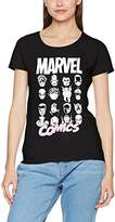 Marvel Women's Comics Multi Heads Ladies T-Shirt