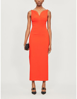 Emilia Wickstead Mathilda sweetheart crepe maxi dress