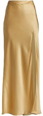 Adriana Iglesias Java Silk Slit Maxi Skirt