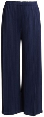 Pleats Please Issey Miyake Monthly Colors November Wide-Leg Pants