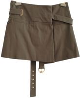 Gucci Khaki Cotton Skirt