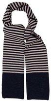 Tory Burch Striped Wool Scarf