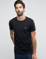 Lacoste T-shirt With Logo In Regular Fit Black