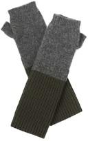 Amanda Wakeley Hamada Khaki Cashmere Gloves
