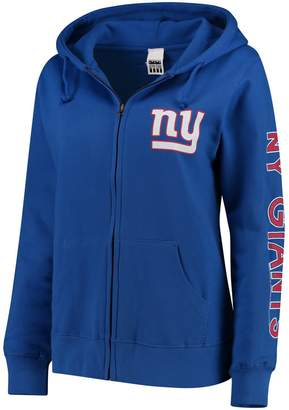 Unbranded Women's Royal New York Giants Extra Point Two-Hit Full-Zip Hoodie