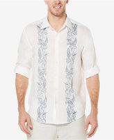 Cubavera Men's 100% Linen Tropical Print Shirt