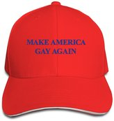 ZSFCK Make America Gay Again Adjustable Sandwish Mesh Hat