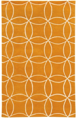 StyleHaven Hand-crafted Wool Inter-locking Circles Wool Rug