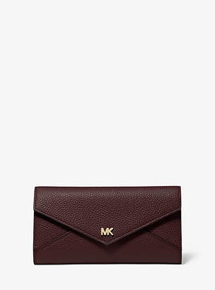 MICHAEL Michael Kors Large Pebbled Leather Envelope Wallet