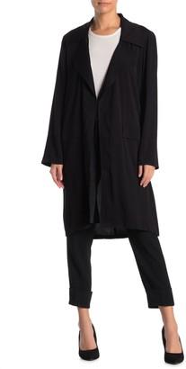Dr2 By Daniel Rainn Drapey Long Open Trench Jacket (Petite)
