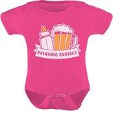 TeeStars - Drinking Buddies Father's Day Gift Baby & Dad Cute Baby Onesie 6M
