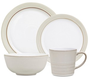 Denby Natural Canvas Dinnerware Collection 16-Pc. Dinnerware Set, Service for 4