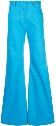 Rosetta Getty Flared Tailored Trousers