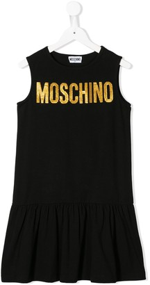 MOSCHINO BAMBINO TEEN frill skirt dress