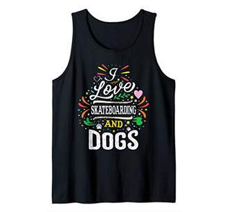 Skateboard Skateboarding And Dogs Gift Tank Top