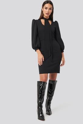 Trendyol Tied Mini Dress Black