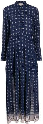 Semi-Couture Semicouture printed long button-up dress