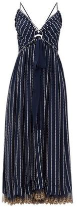 Chloé Double-strap Silk-blend Crepe Dress - Womens - Denim