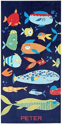 Pottery Barn Kids Funny Fish Mini Beach Towel