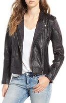 Blank NYC Women's Blanknyc Genuine Leather & Suede Moto Jacket