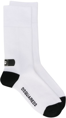 DSQUARED2 Logo Bandaid Print Socks